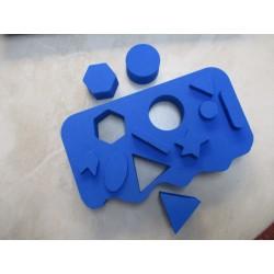 Formenpuzzle FIANA Farbe: Blau